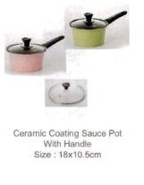 Ecoramic Ceramic Coating Saucepan with Glass Lid 18cm