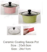 Ecoramic Ceramic Coating Casserole with Glass Lid 20cm