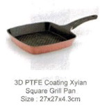 La Cena Xylan Coating Square Fan 27cm